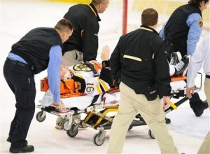Marc Savard after the Cooke hit