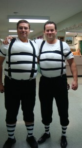 My VP (@4thekos) and I as Tweedle Dee and Tweedle Dum