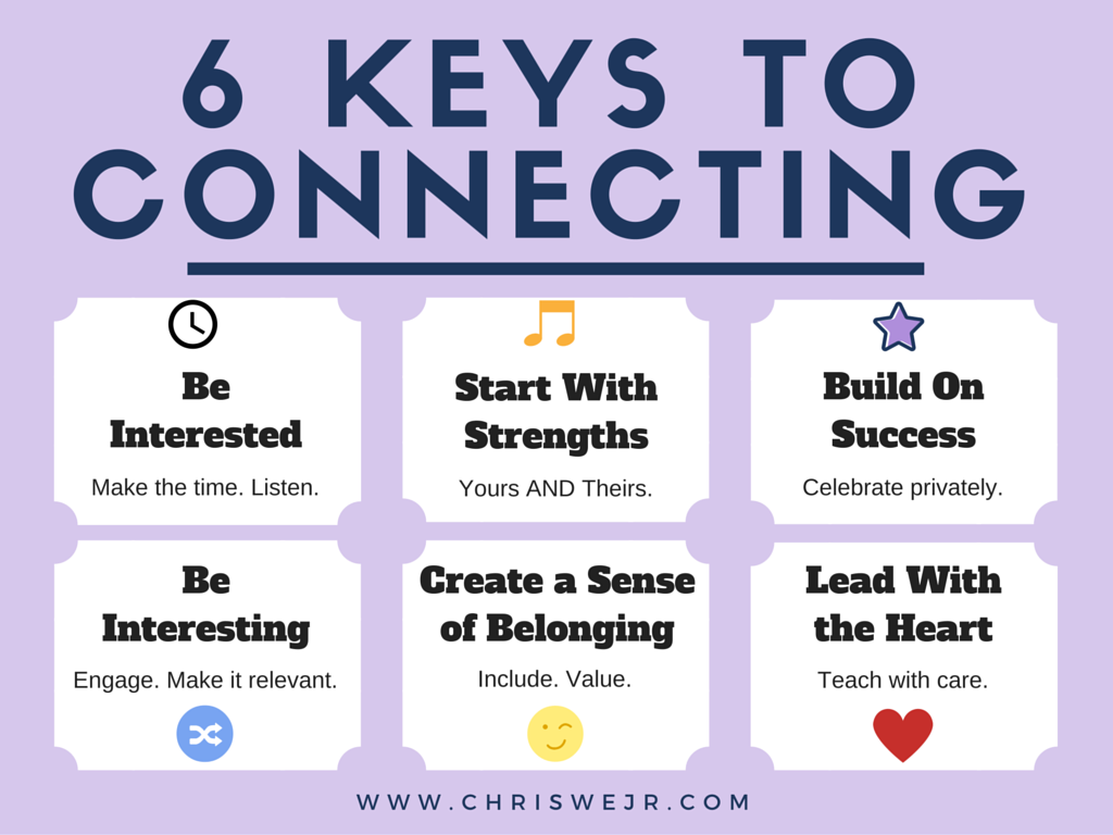 6 Keys to Connecting With Students